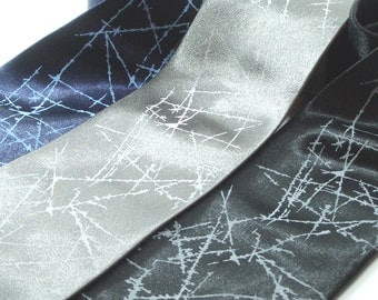 Ice Crystals Necktie - Premium Quality Microfiber Tie - Gift Wrapped - Choose color and quantity