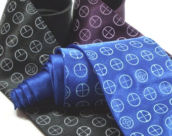 Crosshairs Neck Tie - Premium Quality - Gift wrapped - Premium Quality Microber Tie - Choose color and quantity