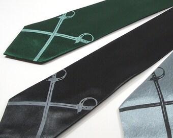 Men's Tie - Sabres Necktie - Premium Quality Microfiber Tie - Choose your color and quantity