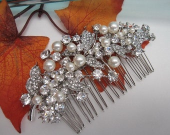 Wedding hair comb pearl bridal hair accessories wedding hair jewelry pearl bridla hair comb wedding comb bridal hair jewelry wedding jewelry