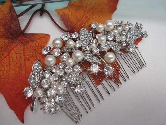 Wedding hair comb pearl bridal hair accessories wedding hair jewelry pearl bridla hair comb wedding comb bridal hair jewelry wedding jewelry