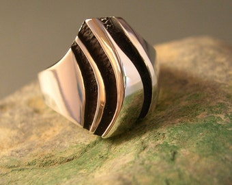 THREE RIVER RIDGE ring, Sterling silver
