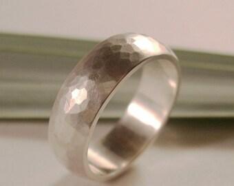 Wedding Band, 7mm width, Sterling Silver