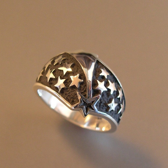SHOOTING STAR, Ring for Men or Women, Sterling Silver