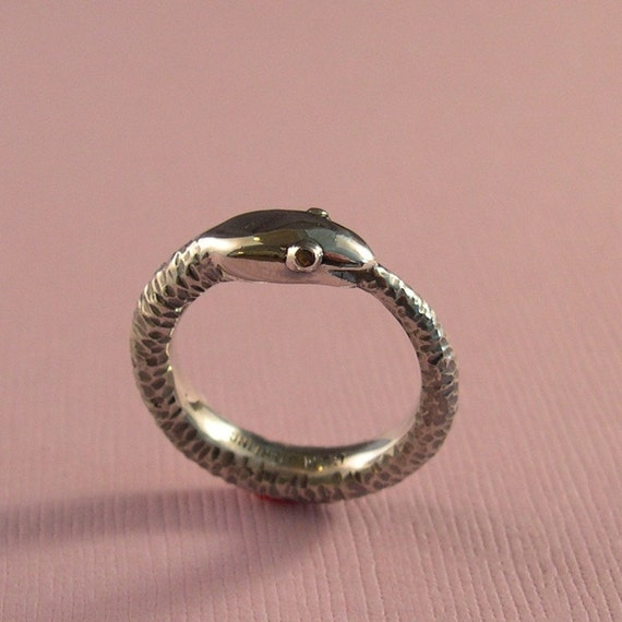 Ouroboros Ring, Heavy Weight, Sterling Silver