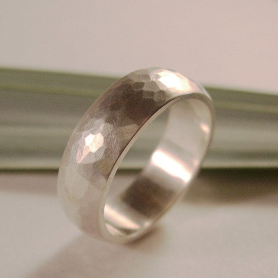 Wedding Band, 7mm width, Sterling Silver