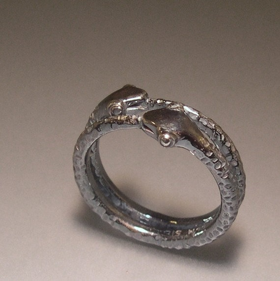 Ouroboros Twins, Sterling Silver