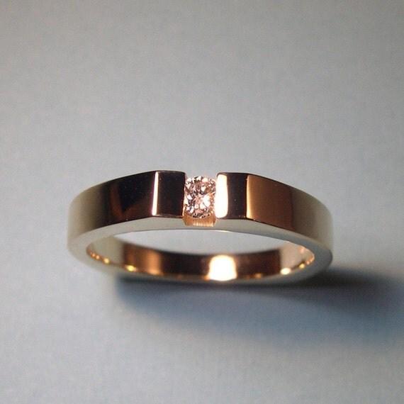 Channel Set Diamond Ring, 14k Gold