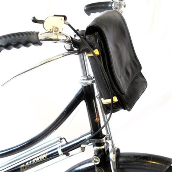 HandleBar Bicycle Bag - Upcycled  RESERVED
