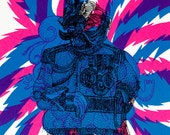 General no. 4 - psychedelic soldier Artprint by Seripop