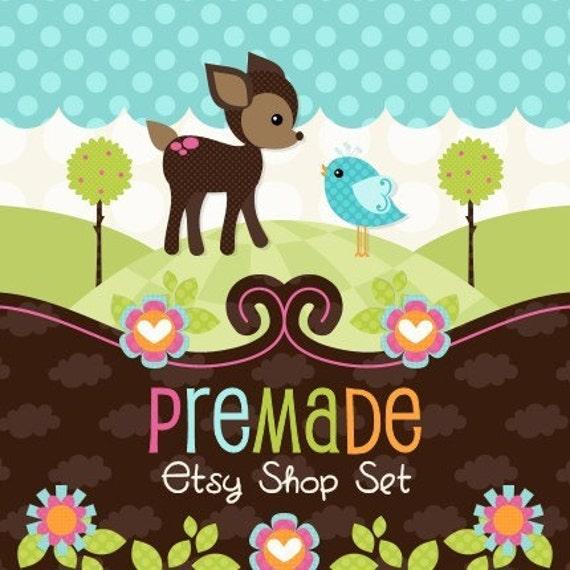 Deer Friend- Premade Etsy Set