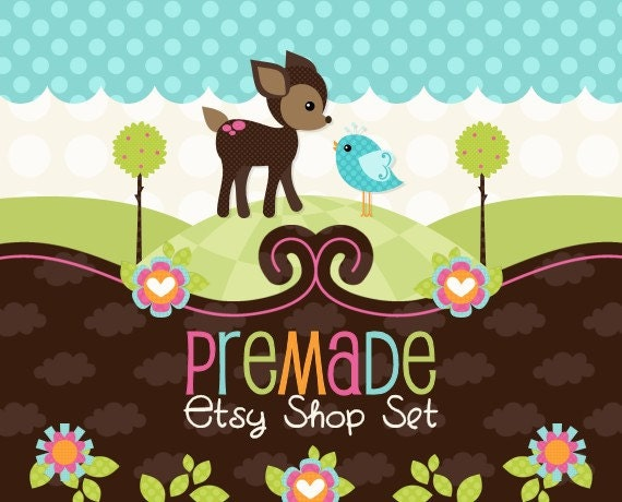 Deer Friend- Premade Etsy Set