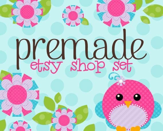 Sweet Blossom Tweet with Blue - Mini Shop Set