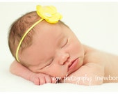 Baby Flower Headband Yellow...Baby Flower Headband...Newborn Headband...Yellow Headband...Baby Headband