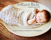 Cocoon Newborn Baby wrap Photo prop in Natural / Photography Infants Girl Boy Photo Shoot all Babies / Perfect GIFT Newborns New Baby