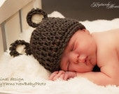 Teddy Bear Baby HAT Newborn Photo prop / Baby Beanie Hat Photography Newborns / Perfect GIFT New Baby Girls Boys Photo prop / Bear Baby Hat