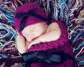 HAT and Cocoon Baby Newborn Photo Prop in WILDBERRY / Photography Hat & Cocoon photo shoot new baby / Gift Baby Showers Party New Baby Photo