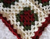 Vintage Throw Granny, Afghan Blanket Throw, CRIB Blanket Photography, Crochet Knit Vintage Throw, CRIB Blanket Custom Order Gift, Throw Wrap