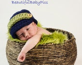 Chunky Newsboy Baby Hat Newborn / Baby Driver Cap Photo prop in NAVY / Photography Session all Babies Beanie Visor Baby HAT / New Baby HAT