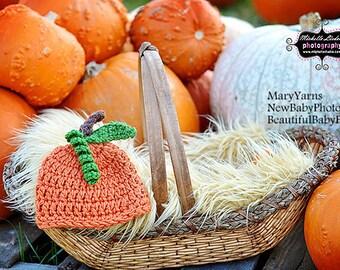 Pumpkin Beanie Hat Newborns, Hat Photo prop, Photography Baby Hat, GIFT New Baby Hat, Pumpkim Baby Hat Photo Shoot, Beanie Hat, Baby Beanie