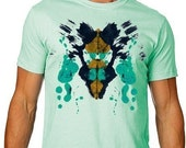 INK BLOT Tshirt Psychlology Science Tee MENS Shirt