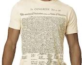 Declaration Independance TShirt History Text Tee MENS Shirt