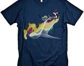 Abstract Art Tshirt Unique NAVY T-shirt MENS