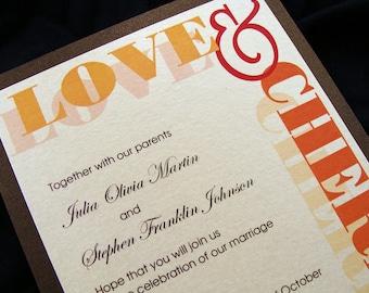 Love & Cherish Wedding Invitation Sample Set