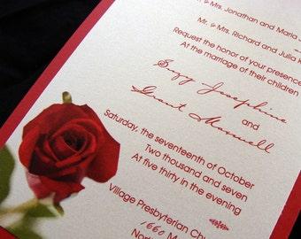 Red Rose Invitation Sample Set