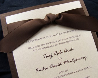 Wedding Invitation Ribbon Tie Sample Set