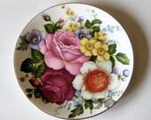 Vintage English Bone China Dessert Plate Butchart Gardens