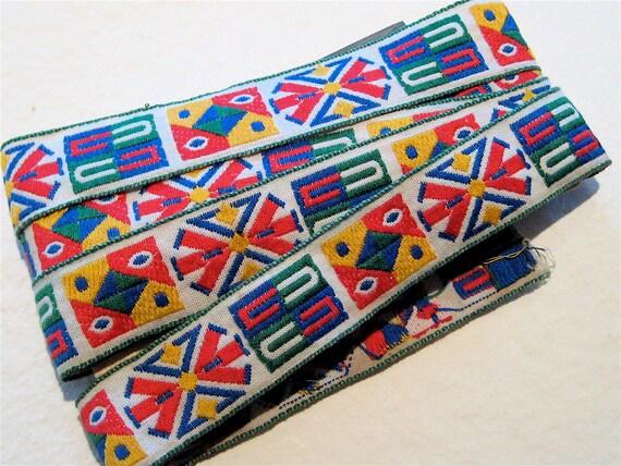 Vintage Ribbon Trim, Woven Jacquard