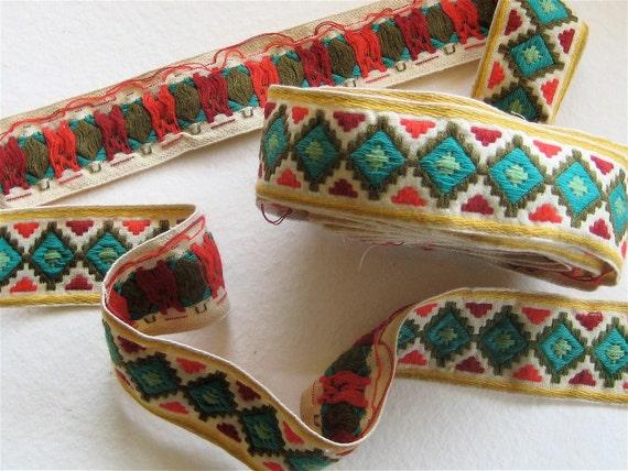 Vintage Woven Trim Spanish Textile