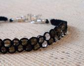 Smokey Quartz and Silk Thread Friendship Bracelet