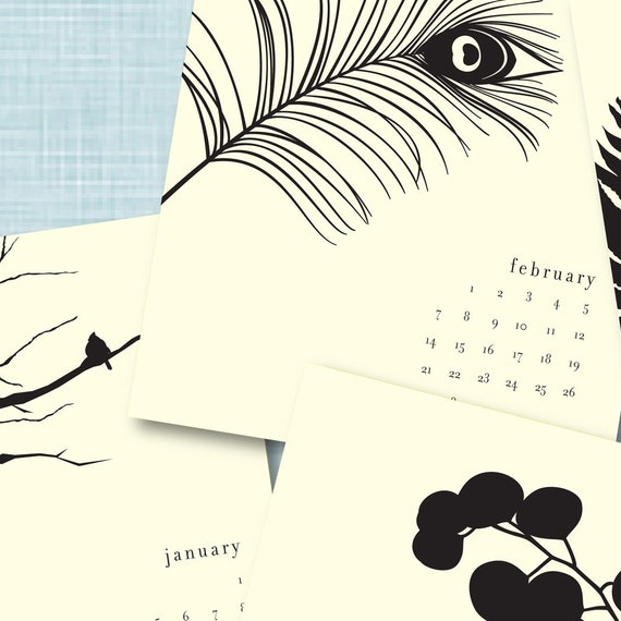 Black & White 2011 Desk Calendar
