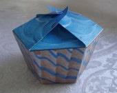 Paper Cupcake Box Favor The Ocean  (PDF-  Ineractive File)