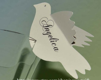3D Dove Place Cards