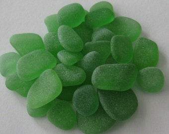 Green Seaglass, Beach Glass Jewelry Supply, Genuine Sea Glass Jewelry Making