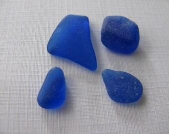 Blue Glass, Craft Supply, Blue Beads, Beach Glass, Jewelry Supply, Sea Glass, Jewelry Making, Seaglass