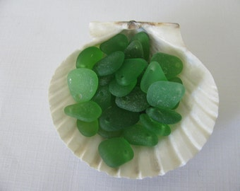 Craft Supplies Green Seaglass, Beach Glass Jewelry Supply, Genuine Sea Glass Jewelry Making