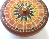 West German Mid Century Tin Mosaic Style Vintage