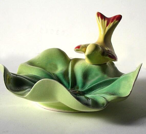 Yellow Bird Vintage Ceramic Dish