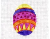 Small Needlepoint Egg - Jody Designs   Pastel Yellow top