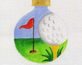 Golf Needlepoint Ornament   - Jody Designs     B72
