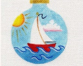 Sailboat Needlepoint Ornament - Jody Designs B35