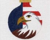 American Eagle Needlepoint Ornament - Jody Designs  B90