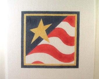 Flag Square Needlepoint 7x7 - Jody Designs  S4
