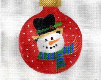 Snowman Needlepoint Ornament in Red - Jody Designs  B1B