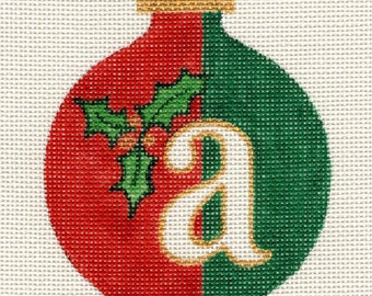Christmas Alphabet all letters available Needlepoint Ornament - Jody Designs A2