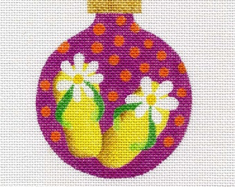 Flip Flops Needlepoint Ornament - Jody Designs   B102